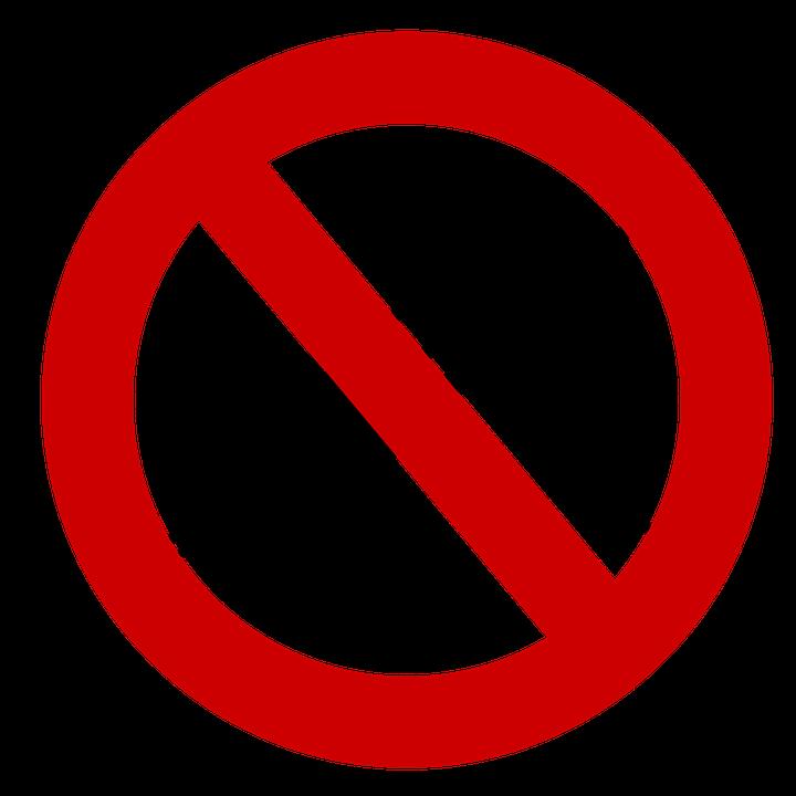 Señal de prohibición de mosquito