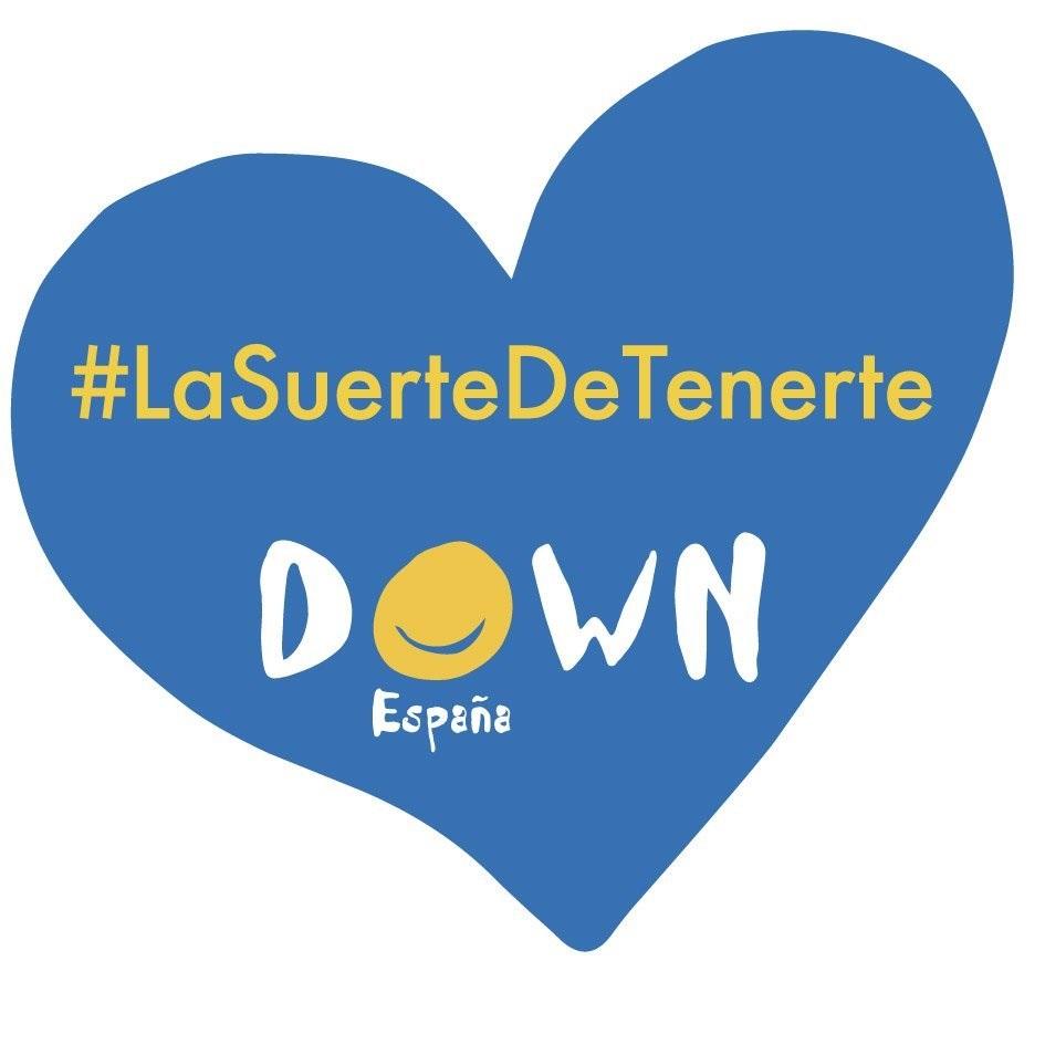 Un corazón azul símbolo de Down españa.